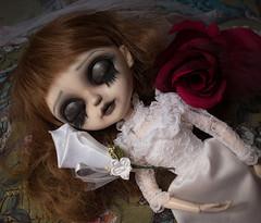 Miss Havisham (Fifilatrixabel ) Tags: custom tangkou doll fifi fifilatrixabel carving fangs vampire bride dickens