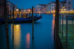 5 Lights on the Water (daedmike) Tags: venice italy night twilight longexposure lights boats canal gondola port jetty santomo