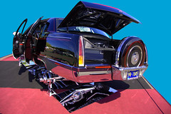 Show it (swong95765) Tags: car lowrider pump hydraulics pnumatics show beautiful shine chrome sparkle underneath underside below