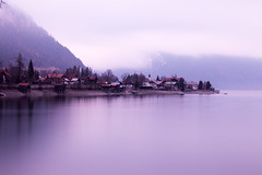 Germany ([ raymond ]) Tags: img3807 germany lake walchensee town village quiet peaceful serene still longexposure fog clouds cloudy mountains landscape walchenlake bavaria alps