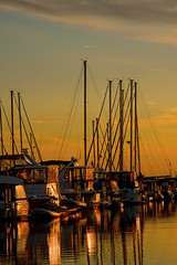 Michigan City Harbor at Sunset 9-12-2016 8605 (www.cemillerphotography.com) Tags: lakefront lakemichigan sundown dusk nightfall washingtonpark recreation megawatt energy emissions indiana factory smokestack smoke