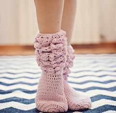 GiGi socks (mon petit violon) Tags: pink ladies house socks women sock pattern boots patterns leg crochet gigi accessories easy warmers ankle slippers