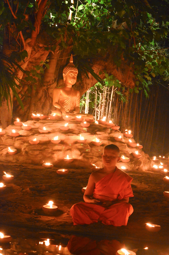 Week 51. Novice monk meditating.