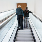 Stedelijk Museum escalator with old people thumbnail