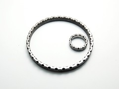 Cut Edges - iron ring and bracelet (Blind Spot Jewellery) Tags: art iron contemporary steel jewelry ring jewellery bracelet jewel ferro blindspot ferrous blindspotjewellery ferrousjewelry ferrousjewellery