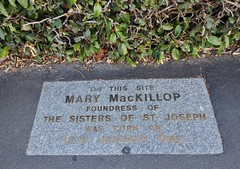 Mary MacKillop's Birthplace (mikecogh) Tags: saint plaque catholic pavement religion date footpath 1842 eastmelbourne marymackillop