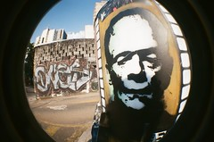 #342 ([ iany trisuzzi ]) Tags: streetart film analog 35mm lomography toycamera fisheye fisheye2 project365 365days