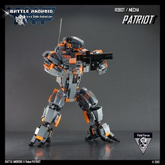 BATTLE ANDROID  Robot PATRIOT (Custom LEGO Robot / Mecha) (BATTLE ANDROID) Tags: building robot lego robots instructions modell mechwarrior mecha mechs mech robo robotech battletech moc exo exoskeletons legorobot legomodel legomecha legomech legoroboter legorobots legocreations kampfroboter battleandroid customlegorobot roboterauslego robotsoflego legoroboinstruction legoroboterbauanleitung