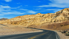 Desert Road (wellscenephotography (ON)) Tags: california road park blue sky clouds landscape death nikon desert nevada line national valley geology leading d800