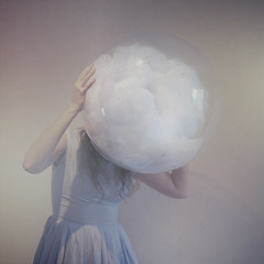 Stuck (Beata Rydn) Tags: stuck squares bubble conceptual beata fineartphotography headintheclouds conceptualphotography texturebylesbrumes beatarydn headinbubble cloudsinbubble
