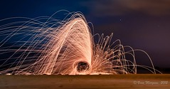 Steel-wool Photography - 3 ( ) Tags: longexposure light red sea wool club painting outdoors photography nikon dusk steel workshop recreation ksa margam d90 18105mm kaust tuwwal