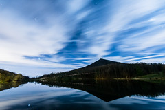 Evening at Sharptop (jon_beard) Tags: sky lake reflection water night clouds dark stars montains sharptop brp peaksofotter