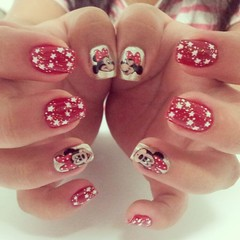 Minnie (Ch de Unhas) Tags: christmas red cute natal glitter stars shine disney minnie cartoom flickrandroidapp:filter=none