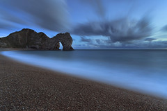Blue Hour (peterspencer49) Tags: seascape night evening arch unitedkingdom unesco worldheritagesite dorset moonlight archway seaview coastalpath westcountry jurassiccoast dorsetcoast seascene cliffwalks 5dmkll beachseaview