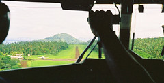 Flying into Taveuni, Fiji 1997 (clear_eyed_man) Tags: travel