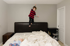 (reneejphotos) Tags: river reece jumpingonthebed riverandreece reece5yrsold river16months