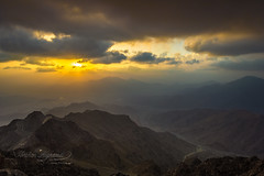 Sarawat Mountains (Ibrahim.Alghamdi) Tags: sunset sky orange mountains nikon saudi   taif   sarawat  ibrahimmalghamdi