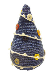blue x-mas tree (8) (difsus) Tags: blue toy design handmade buttons christmastree fir amigurumi crocheted xmastree happynewyear crocheting newyeartree crochetedtoy