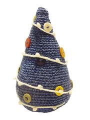 blue x-mas tree (8) (difsus) Tags: blue toy design handmade buttons christmastree fir amigurumi crocheted xmastree happynewyear crocheting newyeartree crochetedtoy