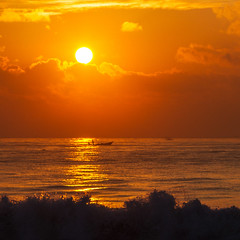 ... (Kris Kumar) Tags: trip sea vacation india beach water silhouette marina sunrise boat fishing december waves madras marinabeach chennai 2012 bayofbengal chennaitrip canonef2470mm canon7d