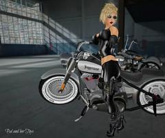 My toys (Bel's World) Tags: sexy leather fun secondlife motorcycle guns bountyhunter trobbing belindafitzroy