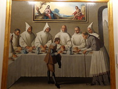 Francisco de Zurbarn: Saint Hugo in the Refectory (sftrajan) Tags: espaa museum painting sevilla andaluca spain seville musee andalusia sevilha museodebellasartes franciscodezurbarn spanishpainting arteespanol