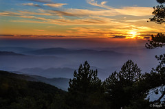 Sunset over The Troodos Mountains (fragglerocks) Tags: sunse
