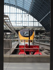 End of the line (neals pics) Tags: london station yellow train canon 50mm eurostar railway locomotive stpancras
