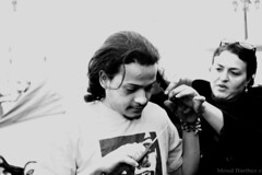 Egyptian young man Cut his Hair in Tahrir Square to support the women (MoudBarthez) Tags: against hair square women cut protest egypt egyptian constitution  tahrir