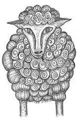 sheep tangle (fontaine2014) Tags: bible hebrew zentangle