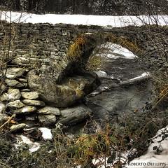winter bridge (Roberto Defilippi) Tags: bridge winter snow water tripod ponte neve acqua inverno hdr rodeos sigma1020mm treppiede niksoftware nikond300 photoshopcs6 photomatixpro42 robertodefilippi