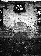 Hooven & Allison (.:Axle:.) Tags: ohio bw abandoned industry 120 film fire blackwhite rust 645 industrial factory pentax kodak decay hc110 rope burnt urbanexploration ha xenia agfa 6x45 burned ue urbex pentax645 apx400 homedeveloping dilutionb agfapanapx400 smcpentaxa64535mm135 believeinfilm hoovenallison