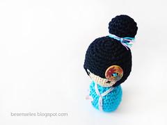 kokeshi amigurumi (airali_gray) Tags: japanese doll crochet amigurumi kokeshi giappone bambola uncinetto cotone