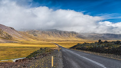 The Long Road (to somewhere else) (J.P.Robertson) Tags: road blue sky mountain ice clouds iceland day hill land peninsula snaefellsnes snaefell