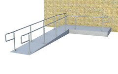 Top Rail ADA Railing - Ramp & Step