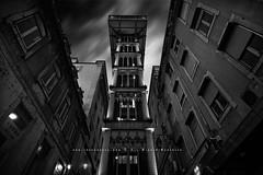 Elevador Sta. Justa (FredConcha) Tags: bw portugal nikon lisboa sigma pb le 1020 elevador rossio d90 elevadorsantajusta fredconcha