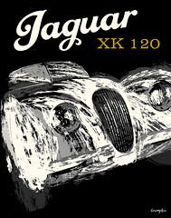 Jaguar XK 120 (Crampton Illustration) Tags: illustration vintagecar automobile jaguar motorcar xk120 automotiveart retroillustration carposter 50sillustration michaelcrampton