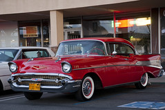 1957 Chevrolet Bel Air Sport Coupe - Matador Red - (Pat Durkin - Orange County, CA) Tags: red hardtop belair ht 1957chevrolet sportcoupe tacksharp hardtopconvertible
