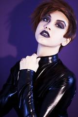 Grunge Girl (Shadow_Chocobo) Tags: girls people colour beauty fashion portraits women shots head grunge goth makeup spy females modelling