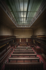 The abandoned crown courts (andre govia.) Tags: light red sky court carpet dock bars closed decay ghost cell prison urbanexploration crown courts ue abandonedbuilding urbex andregovia