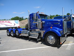 DSC03519 (cj bentley25) Tags: show white tractor truck diesel massachusetts trailer custom mack tow tanker peterbilt flatbed kenworth autocar wrecker 389 359 raynham cabover 379 w900