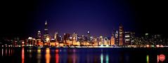Chicago Skyline (BatzayaB) Tags: lake chicago building skyline night nikon scenery long exposure view michigan illinios