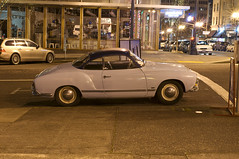 1960 Volkswagen Karmann Ghia (Curtis Gregory Perry) Tags: auto street car vw night oregon volkswagen portland washington nikon automobile long exposure motor 13th ghia 1960 karmann xe d300 automobil        hi