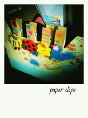 paper clips (opipipio) Tags: home colorful random bored instantphoto stationeries