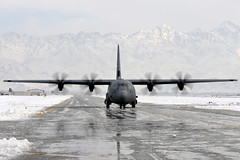 Through the slush (Official U.S. Air Force) Tags: snow slush taxiways runways c130hercules