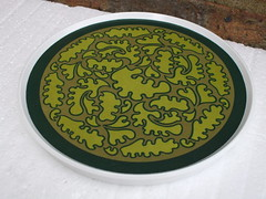 Kitsch 1970's Praesidium Ornamin Green Leaf Design Retro Plastic Tray 99p Charity / Thrift Shop Find Today (beetle2001cybergreen) Tags: charity green shop design leaf kitsch retro plastic thrift tray 1970s today find 99p praesidium ornamin