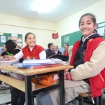 """Beyza smiles for the camera as Rukiye looks on <a style=""""margin-left:10px; font-size:0.8em;"""" href=""""http://www.flickr.com/photos/59134591@N00/8357628031/"""" target=""""_blank"""">@flickr</a>"""