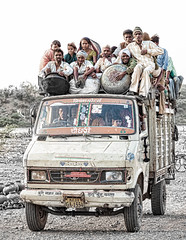 All board!, India (doss@yours) Tags: people india truck indian transport rajasthan bhil beneshwar