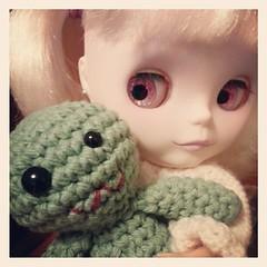 Dahlia with a Chibi Zombie