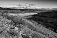 Cloud Inversion, Yorkshire Dales - Explored 11/01/13 (mark_mullen) Tags: uk light landscape countryside hills ex